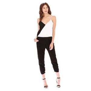 NWT Parker 'Ivy' Combo Jumpsuit In Black Pearl